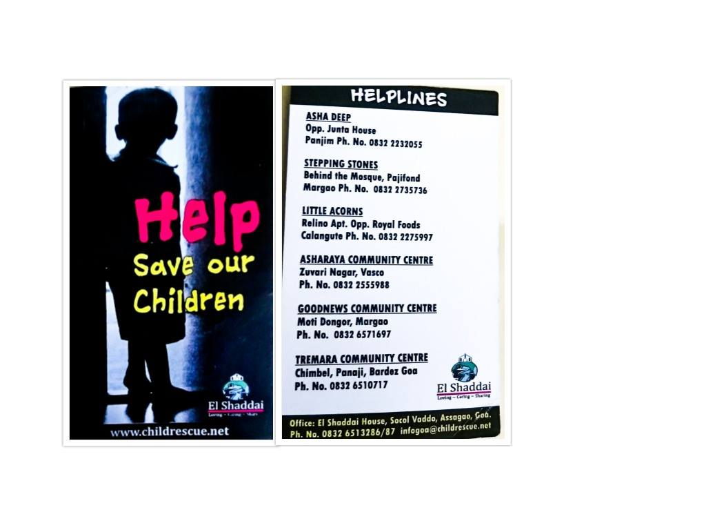 Child Rescue center El Shaddai Goa contact numbers