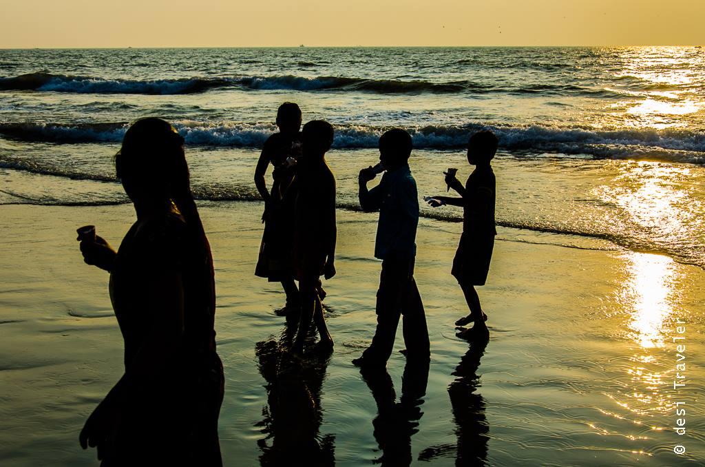 Sunset Goa Beach kids ice cream