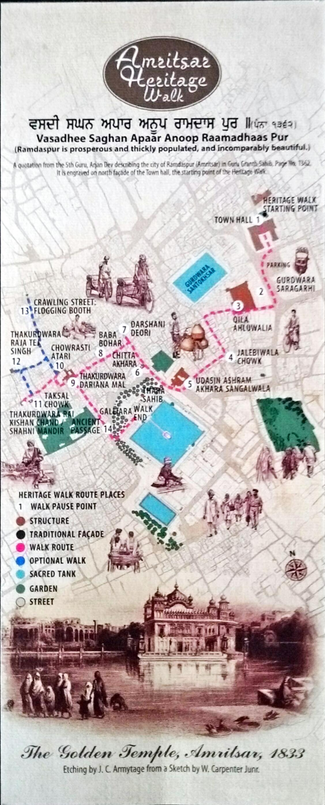 Route Map Amritsar Heritage Walk