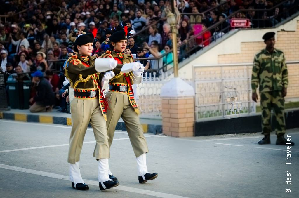 BSF women officers at Wagah Border Parade experience