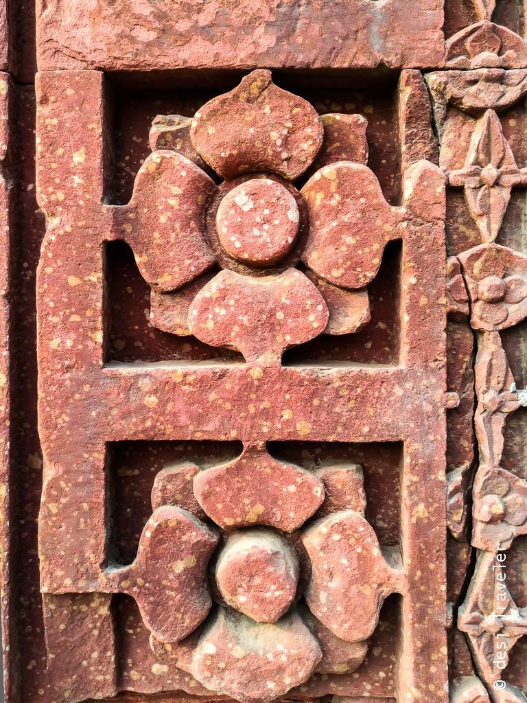 Qutub Minar intricate stone work