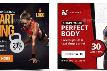 fitness banners bundle10 sets 180 banners