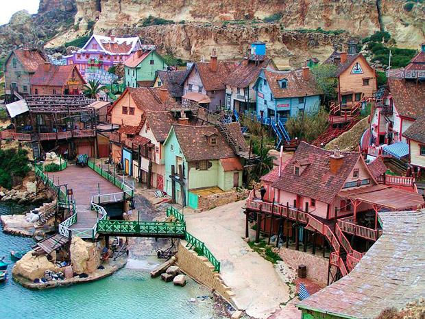 atração infantil Popeye Village Malta