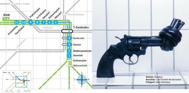 linha verde metrô de estocolmo