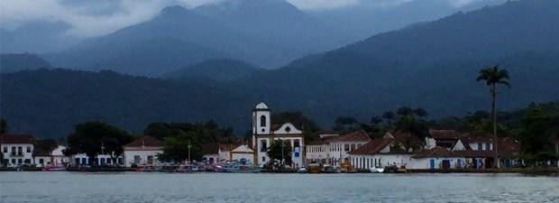 cartão-postal de Paraty Igreja Santa Rita