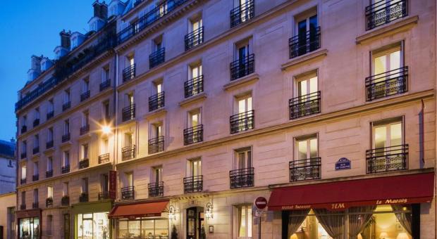 Hotel em Paris com ótimo custo benefíciol, localizado no Marais, melhor bairro de Paris.