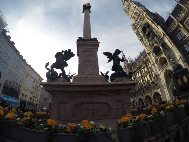 Dicas de Munique Centro histórico Mariensäule