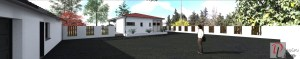 Maison Moderne de Plain-Pied - Vue depuis le garage
