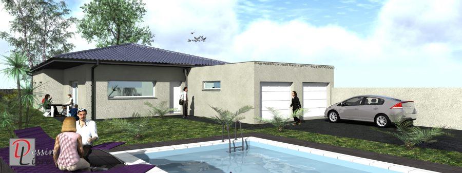 Maison Moderne Type T5 de 138 m²  - Rieumes (31)