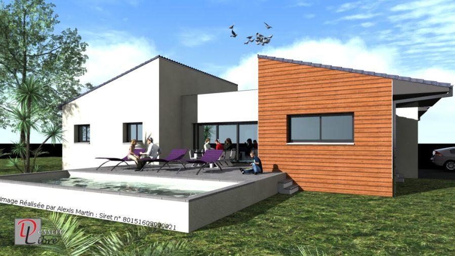Maison Moderne T4 de Forme Type H de 115 m² – Fonsorbes (31)