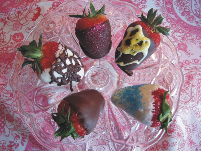 Decorated chocolate covered strawberries