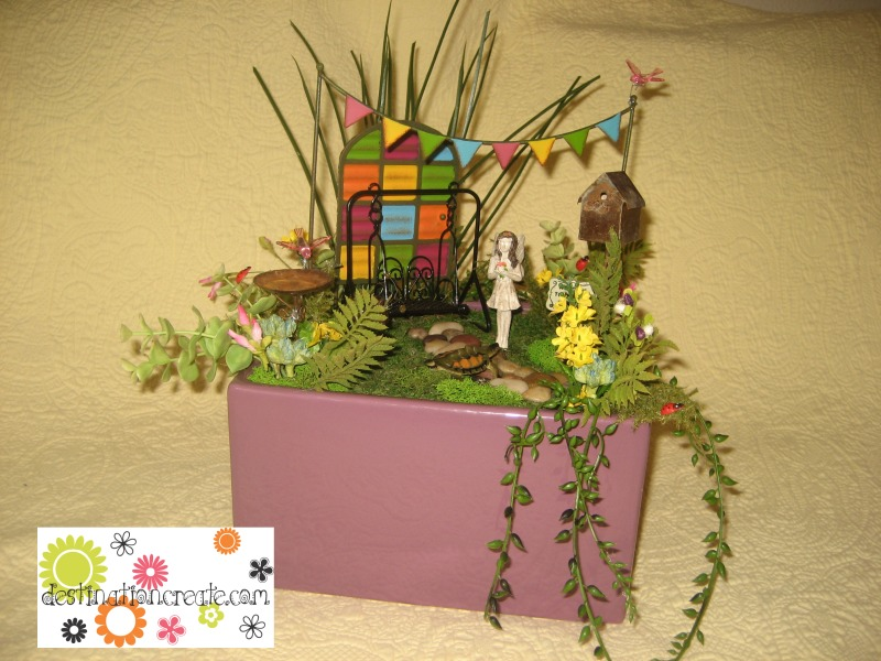 Fairy garden with Gypsy Garden collection- Genevieve Gail