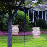 These beaded lanterns will add a delightful detaill to your wedding or party. They can sit on a table or hang. Available colors: 5 Amber, 5 Green, 12 Clear
