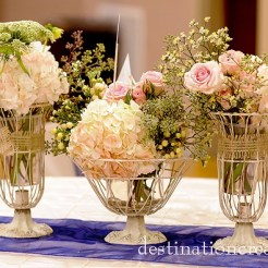 DIY vintage wedding rentals Denver- french wire urns. Great for centerpieces and other decor needs.