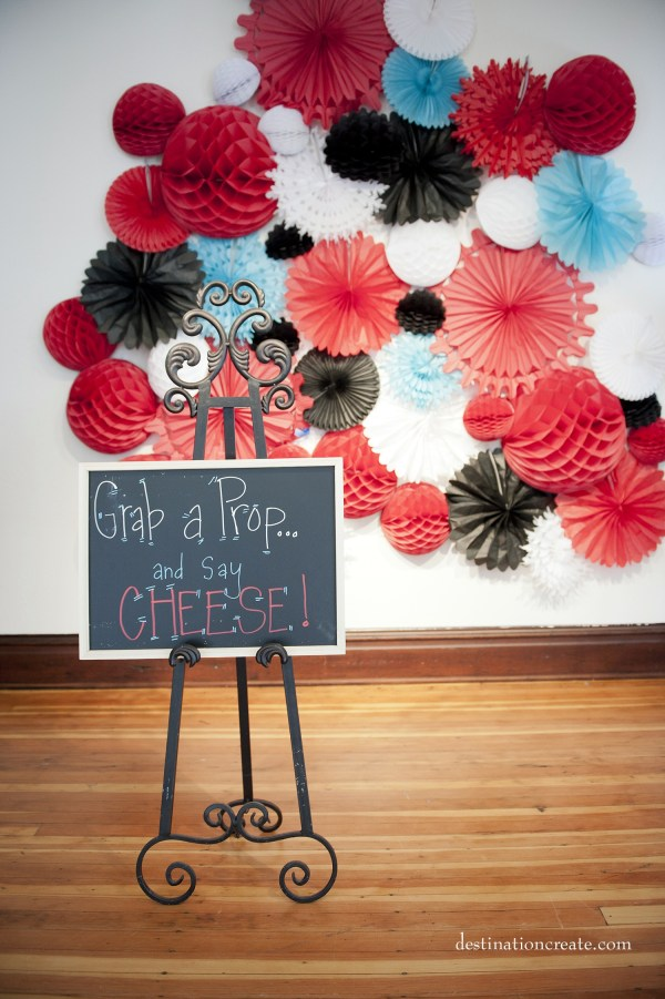Vintage Wedding Denver- photo booth backdrop
