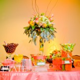 Candy buffet at LDS wedding Denver: Destination Create specializes in LDS wedding reception decorating, styling, planning & rentals.