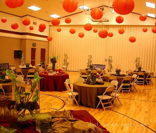 LDS Cultural Hall Wedding Decorating: Destination Create specializes in LDS wedding reception decorating, styling, planning & specialty rentals.
