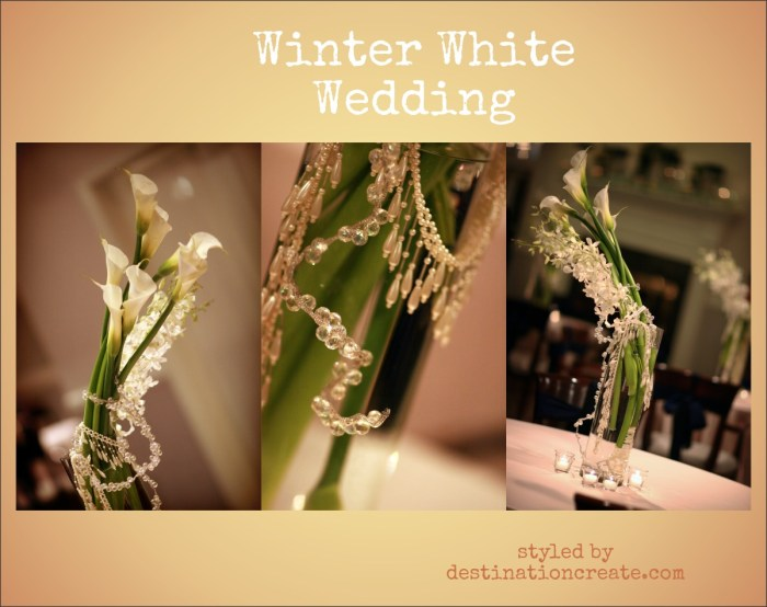 Winter White Wedding Denver, Riverwalk Clubhouse: Destination Create offers wedding planning, decorating, styling, planning & specialty rentals.