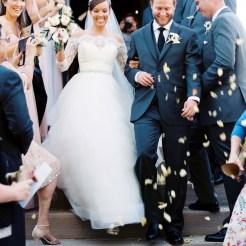 Blush & gold wedding held at Calvary Episcopal Church wedding, Golden Co
