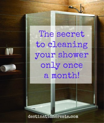 homemade shower cleaner is the secret to cleaning your shower only once a month