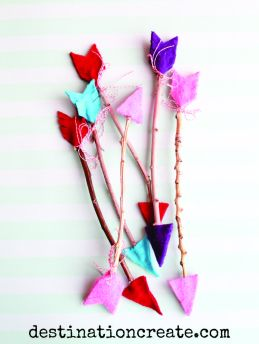 twig arrow tutorial for valentine's day
