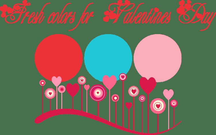valentine color palette graphic