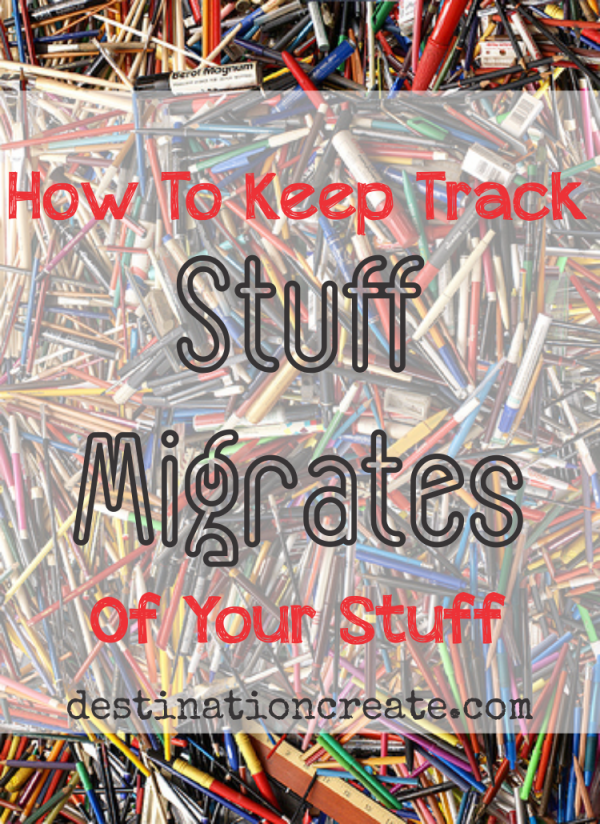 Can you find a pen or pencil when you need one? Are you always losing your keys? There ARE some simple solutions to this dilemma. Check out the full post and learn how to control your clutter. Stuff Migrates... it's the law.