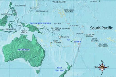 Map Of South Pacific Island - Us pacific islands map