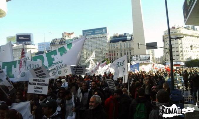 Marcha de periodistas en Buenos Aires