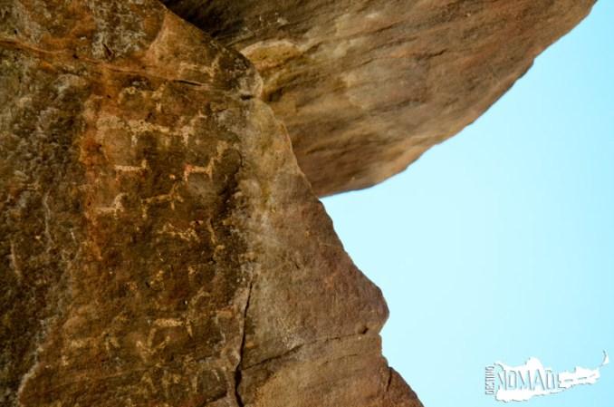 Pinturas rupestres en Coctaca, Quebrada de Humahuaca