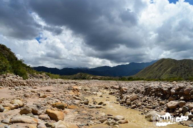 Hacia la tercera estación del cablecarril a la mina La Mexicana, Chilecito