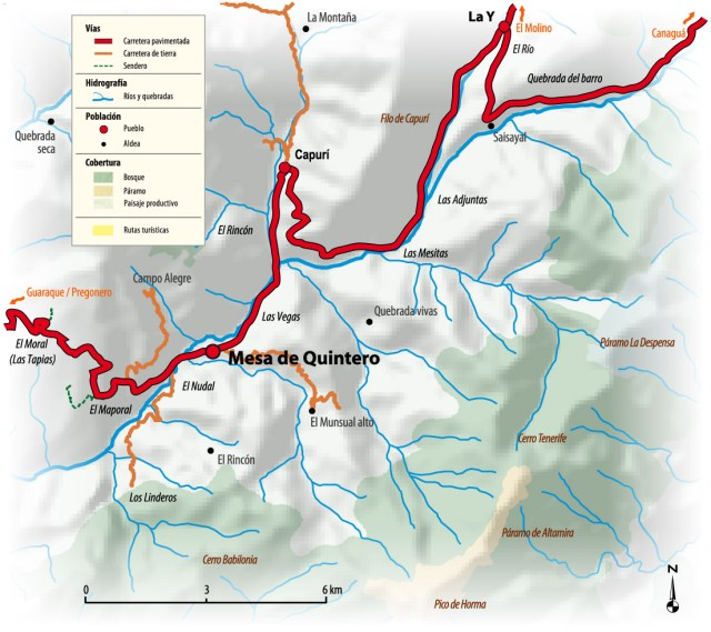 Mapa de Mesa Quintero