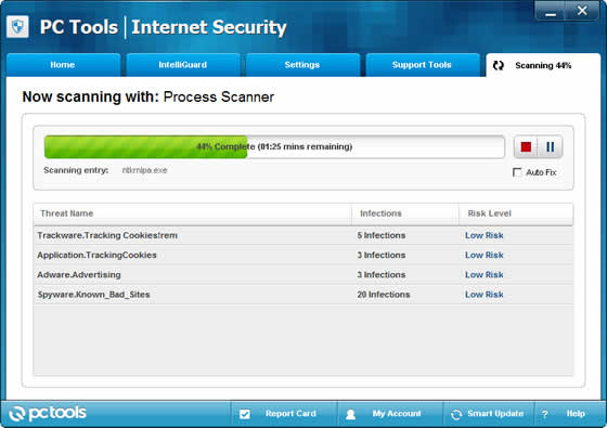 PC Tools Security Scan