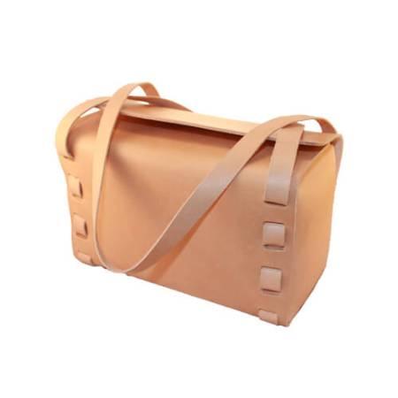 Håndtaske-kernelæder-natur-front---Det-LIlle-Læderi