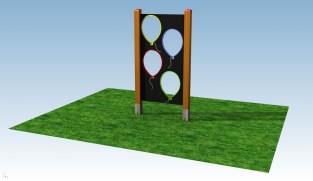 Prohazovací stěna - BALONKY