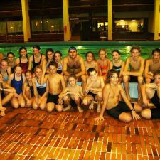 Schwimmgruppe mit Faris al Sultan 2005