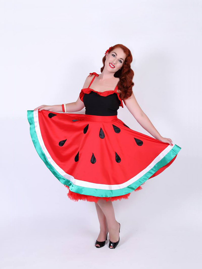 Miss Monique Sweet in The Watermelon Skirt by Devel Women | Photo by Ataahua Pinups