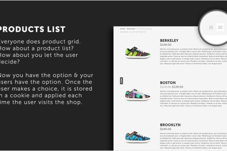 options showcase7 products list