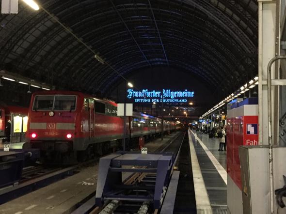 La estación Frankfurt Hauptbanhof.