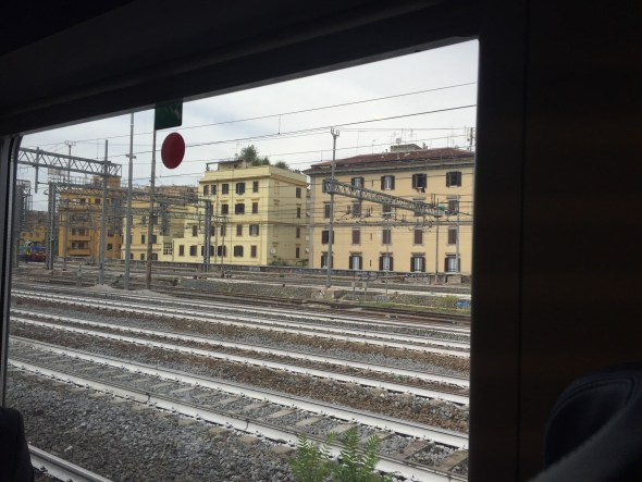Llegando a la estación Termini, en Roma