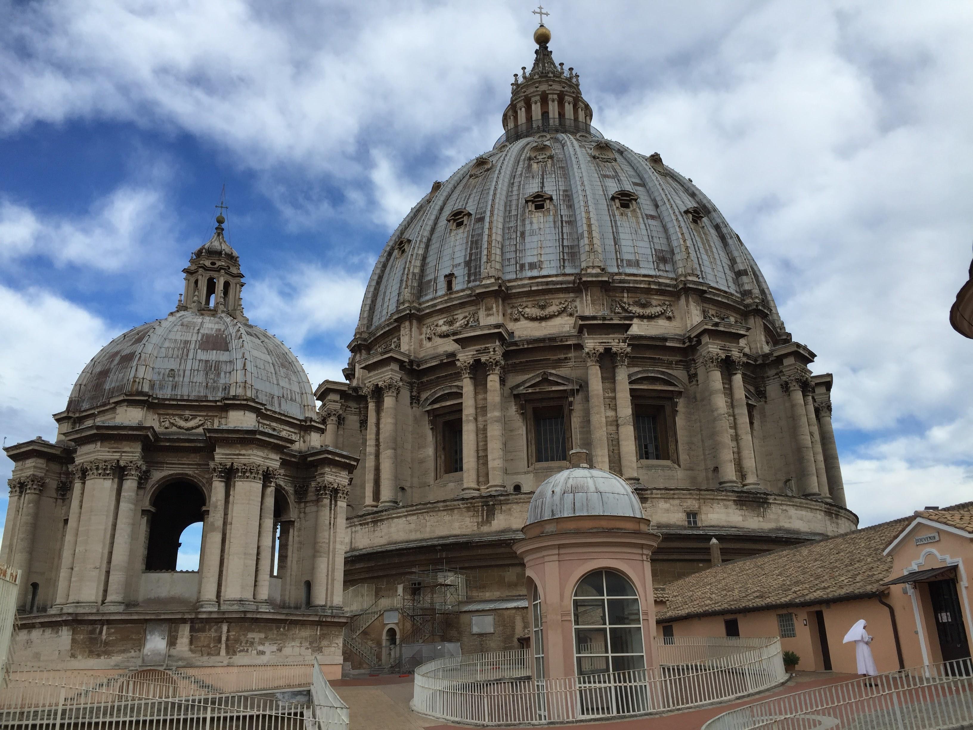 La terraza de la Basílica de San Pedro