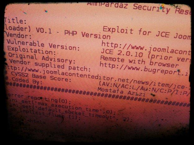 Joomla JCE exploit