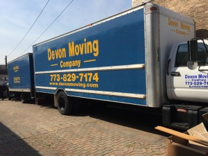 Image of a devon moving truck