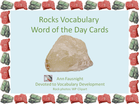 Rock Vocabulary