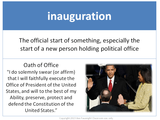 Word of the Day inauguration