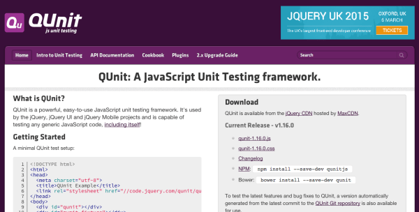 top best javascript frameworks for programmers 2014 - qunitjs