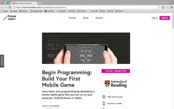 futurelearn-game-programming