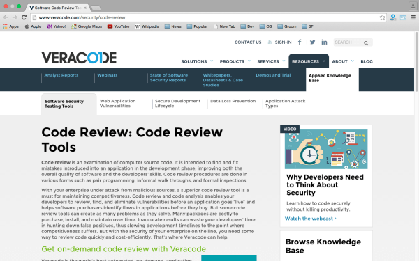 veracode -best code review tools for programmers