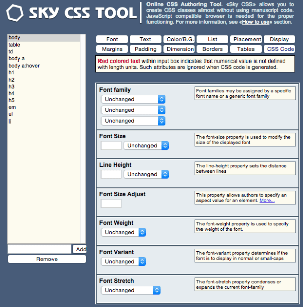 skycsstool - best css tools for year 2015