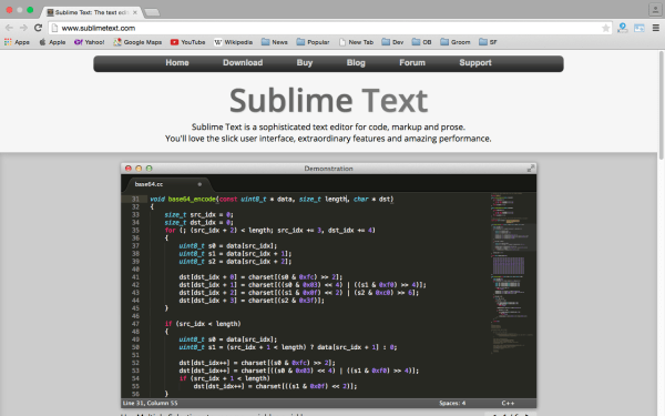 sublimetext - Best PHP development tools 2015